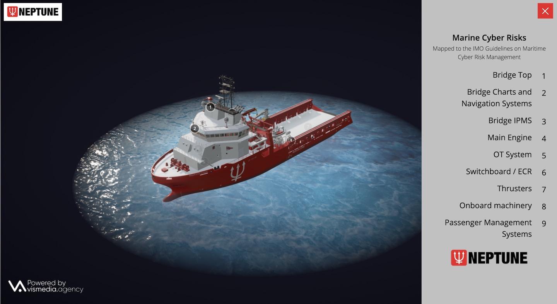 Neptune Cyber interactive 3D model website homepage