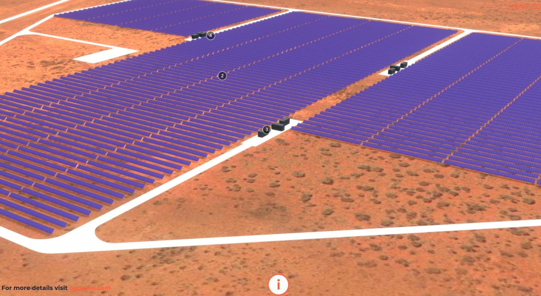 Granny Smith 3D Interactive model of the solar power farm