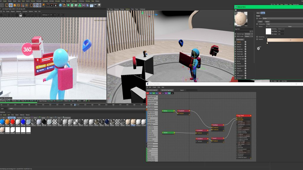 The project file of Space 3D animated video production