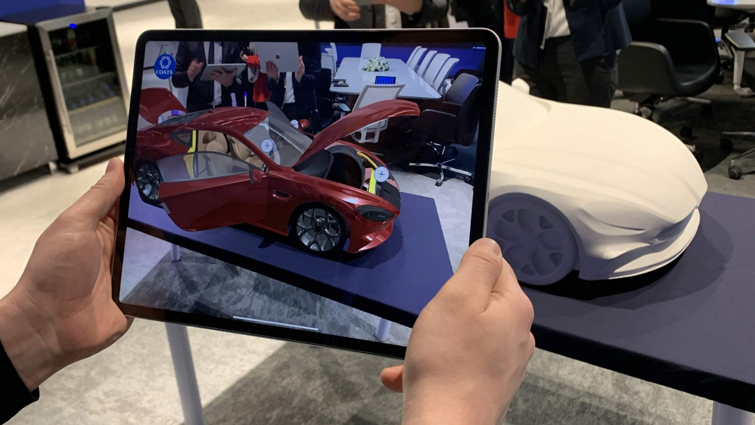Coats Car Interactive Augmented Reality shown on an iPad