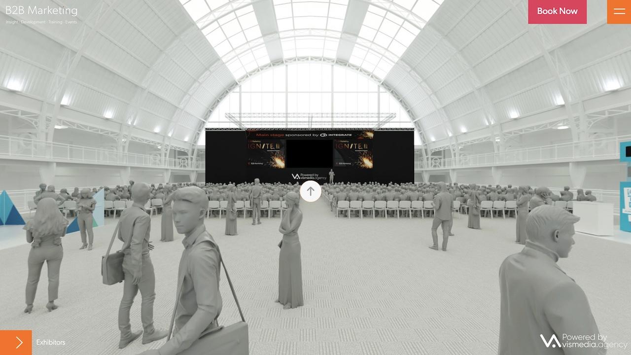 Intro panorama from the B2B Marketing Ignite London immersive experience