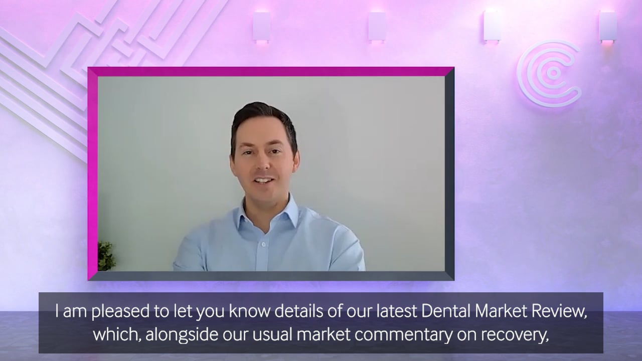 Christie & Co Dental Market Review with Paul Graham in a 3D virtual set