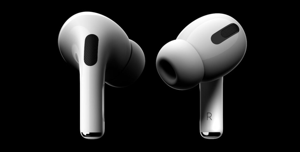 Screenshot from the Apple AirPods Pro interactive website
