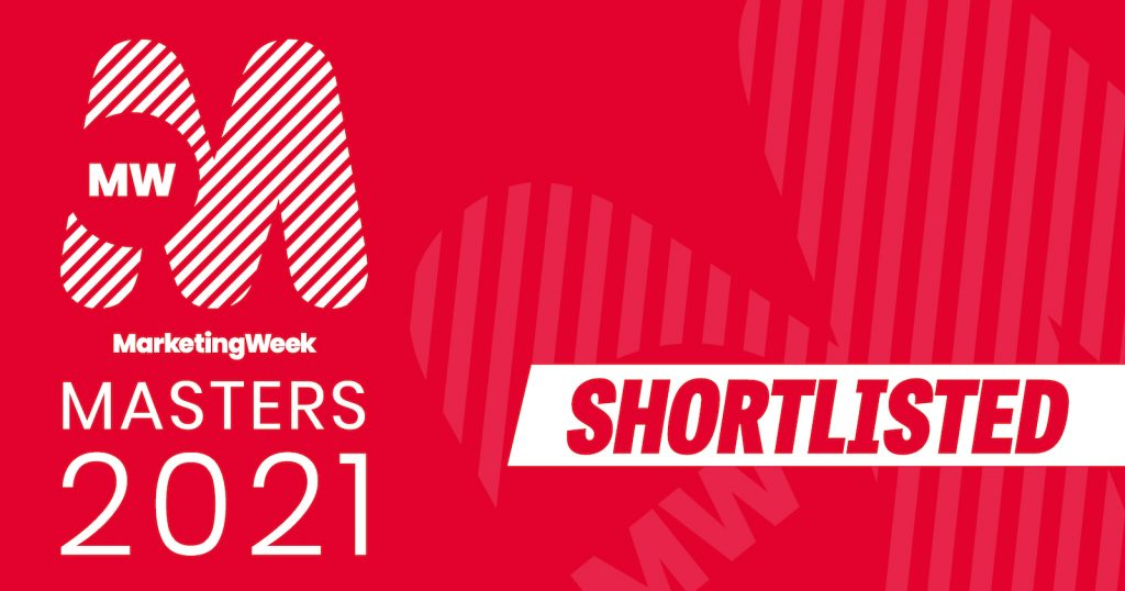 Marketing Week Masters 2021 Shortlisted project