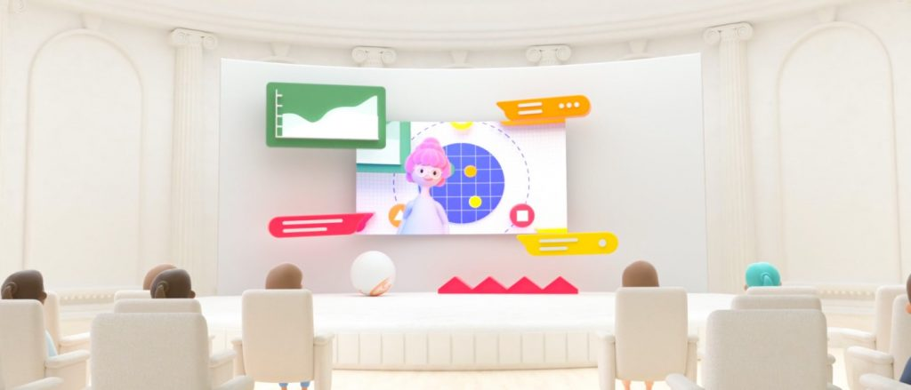 3D animation of employee training and learning session from the Visit Space animation